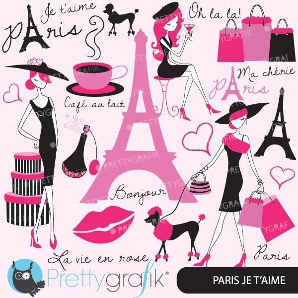 Download Paris Fashion Clipart For Scrapbooking