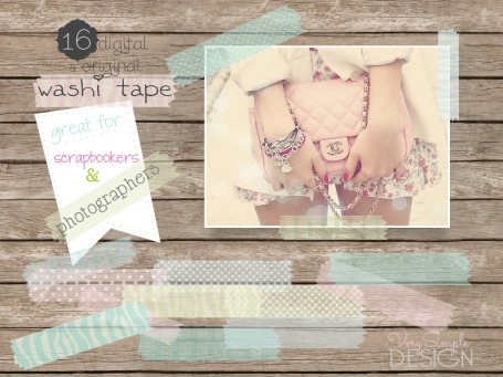 16 digital washi tape