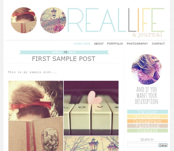 Premade Blogger Template 39 Real Life 39 Two Columns Web