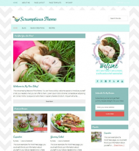 WordPress Premade Blog Theme: