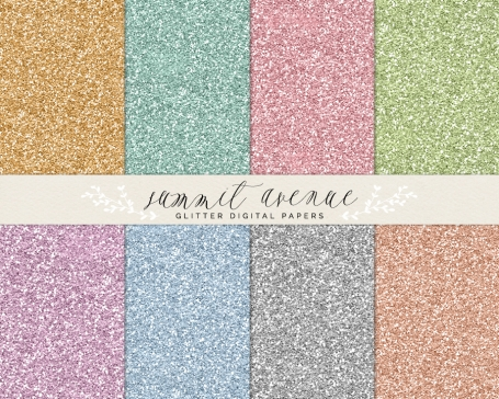Glitter Digital Paper Patterns
