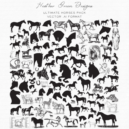 Ultimate Horses Vector Pack
