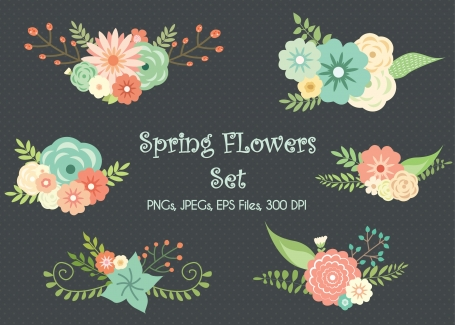 Wedding Floral Clipart Set