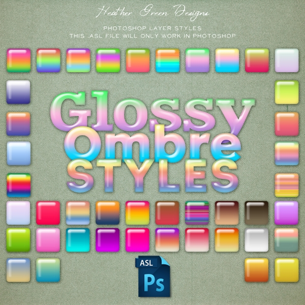 Glossy Ombre Photoshop Layer Styles Graphics Other Luvly