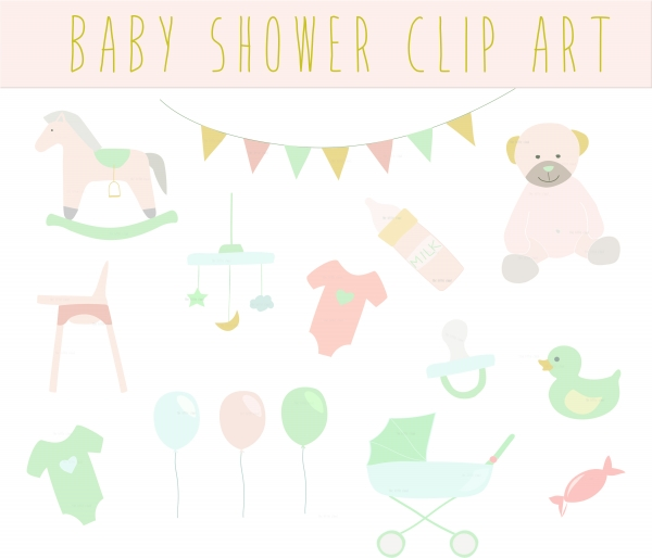 Baby Shower Vintage Clip Art, Clipart. Baby Shower Clipart ...