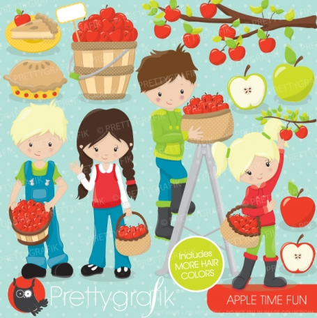 Apple picking clipart - CL690
