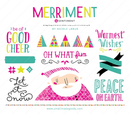 Merriment & Sentiment (Clipart)