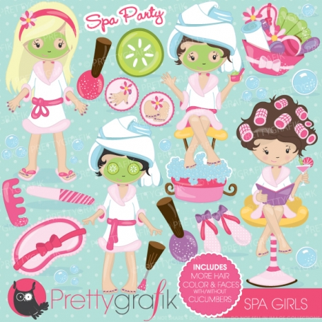 Spa girls clipart - CL694