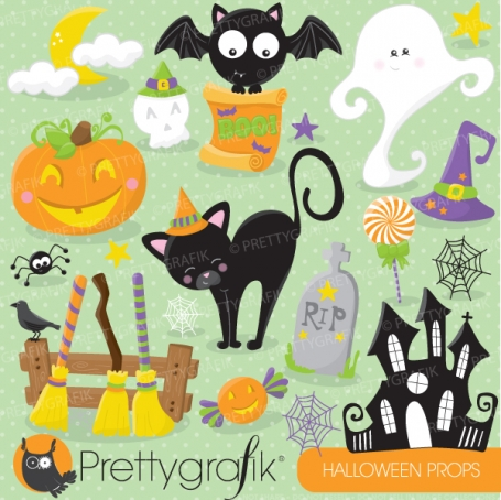 Halloween props clipart - CL698