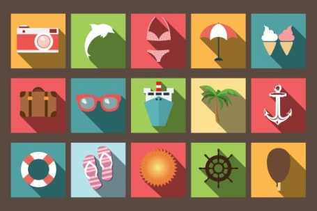 Summer Vacation Flat Icons