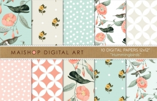 Digital Paper - Hummingbirds