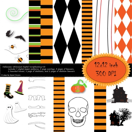 Halloween Whimsical Scrapbooking