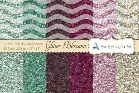 Glitter Papers - Blossom - Digital