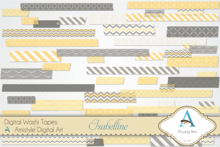 Isabelline DIgital Washi Tape Set