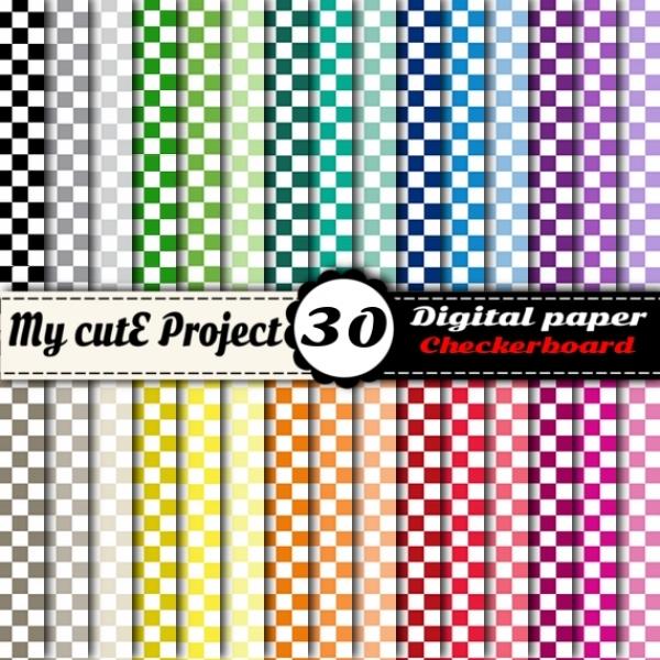 checkerboard scrapbook paper