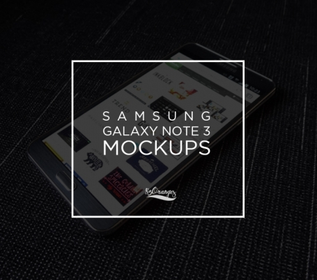 Samsung Galaxy Note 3 Mockups