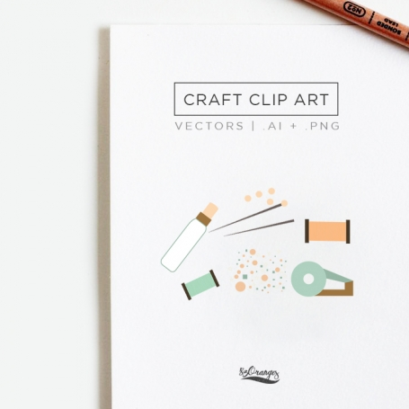 Craft Clip Art & Patterns Set