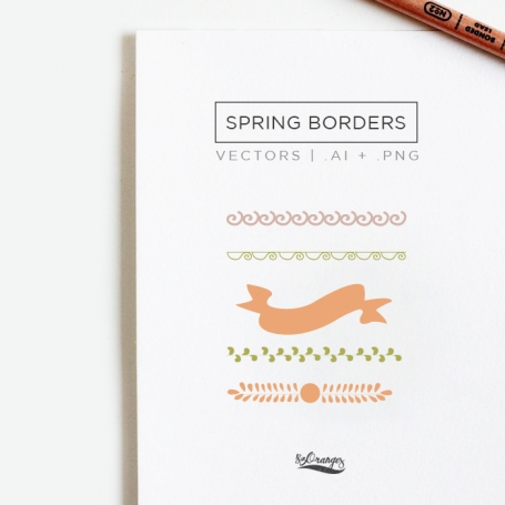Spring Borders & Ribbons