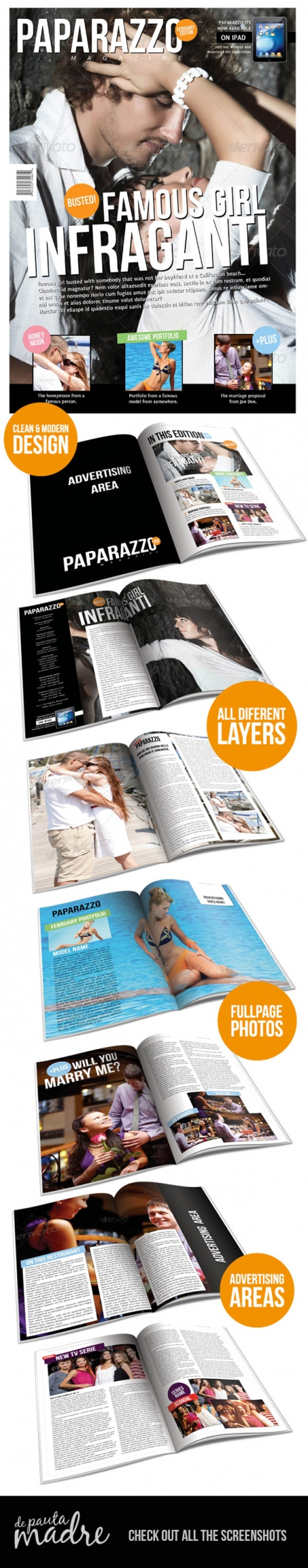 Paparazzo Magazine Indesign