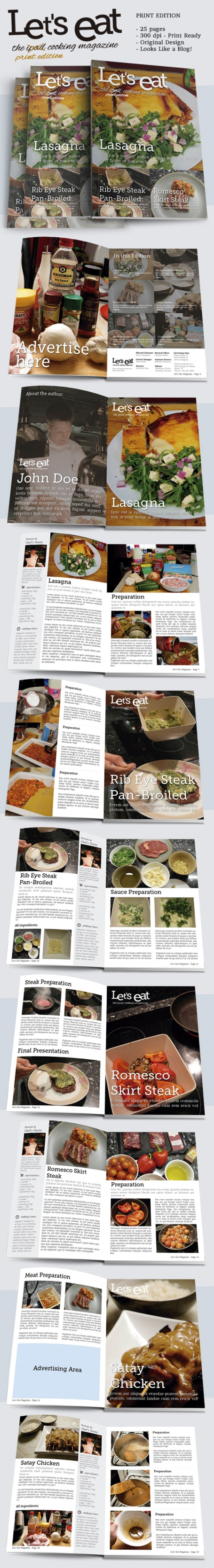 Cooking Magazine Indesign Template