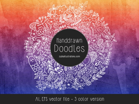 Hand Drawn Doodles Vector Clipart