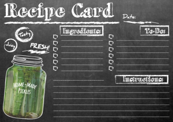 Recipe Chalkboard Download Chalkboard Recipe