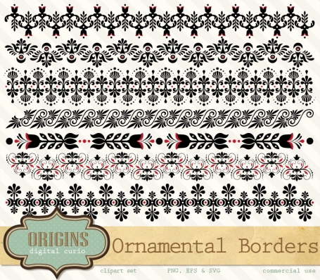 Ornamental Borders Vectors