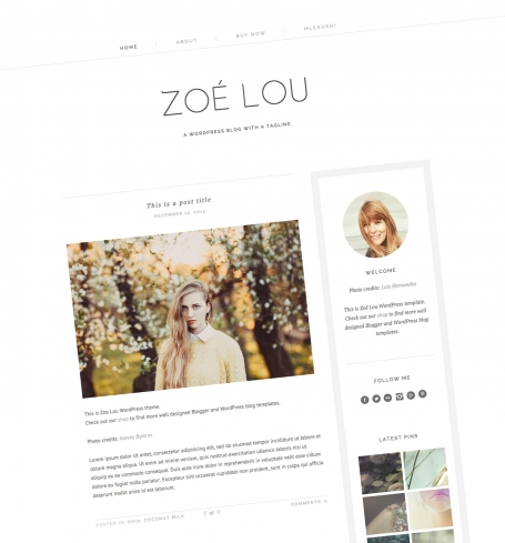 Fashion WordPress Theme Zoe Lou