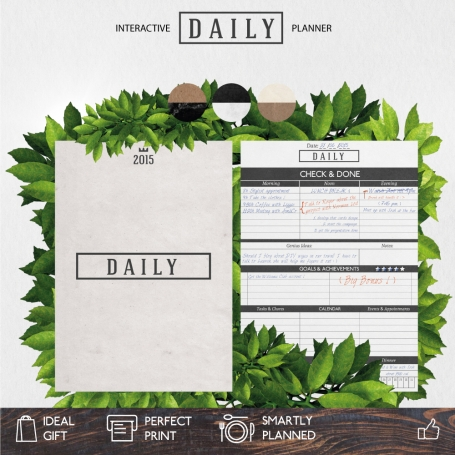 Daily Planner | Silver Delight