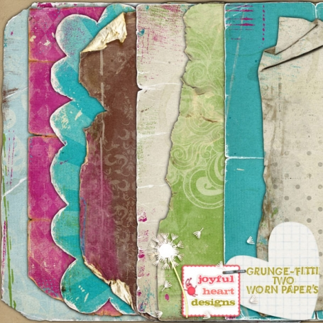 Grunge-fitti 2 {worn papers}
