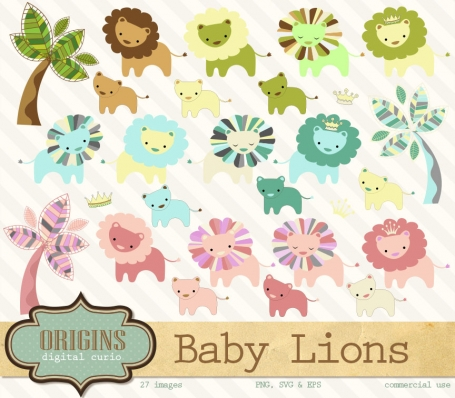 Baby Lions Clipart