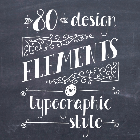 Typography Elements Clip Art