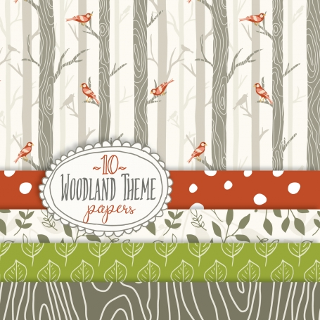 Woodland Theme Pattern & Papers