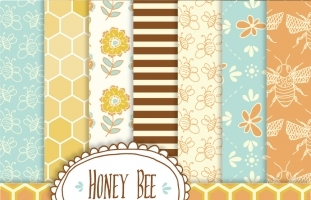 Honey Bee Patterns & Papers