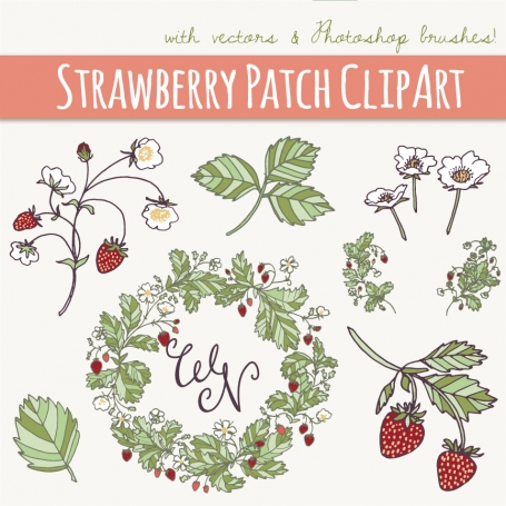 Strawberry Patch Clip Art