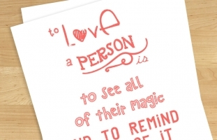 """To Love a Person"" Printable Card"