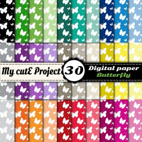 Butterfly - DIGITAL PAPER Pack -