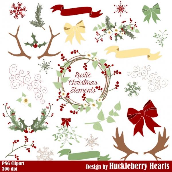 Christmas Clipart, Christmas Clip Art, Christmas Wreath ...