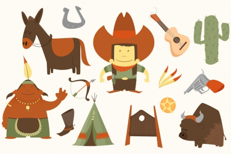 cowboy western clipart pack