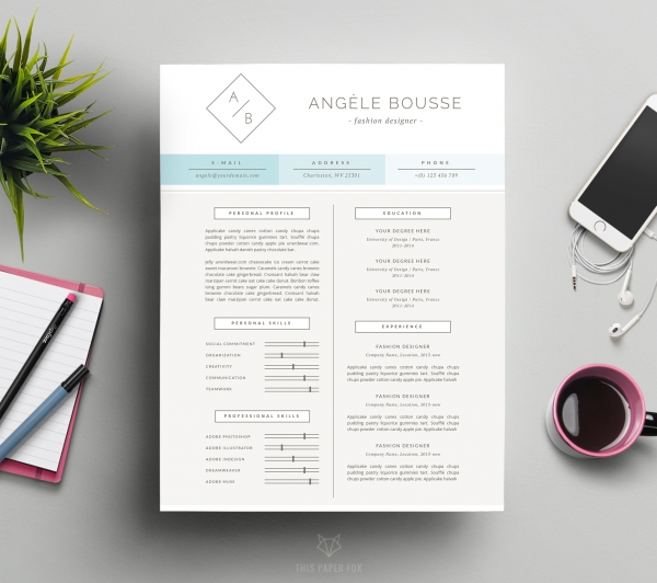 download minimalist resume template and free cover letter f - Minimalist Resume Template
