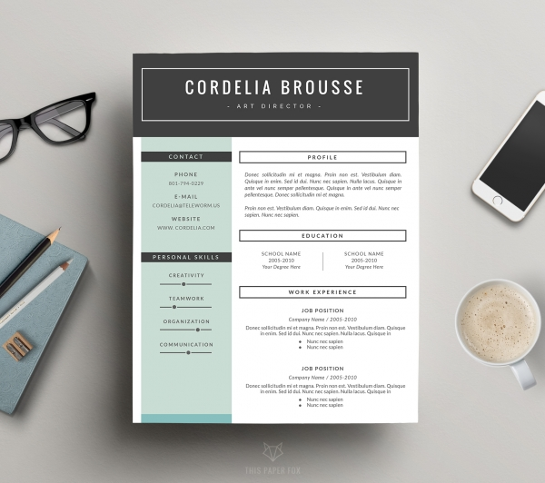 creative resume design and cover letter template f   print    download creative resume design and cover letter template f