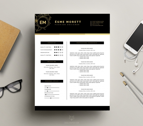 Elegant CV Design and Cover Letter