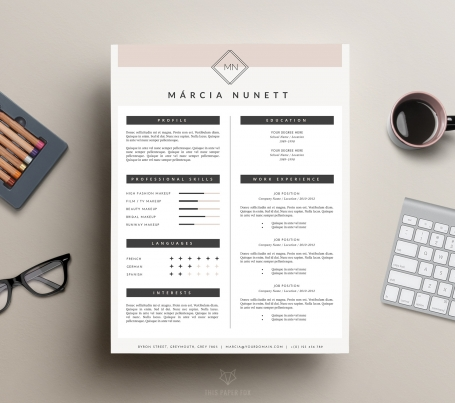 2-Page CV Template and Cover