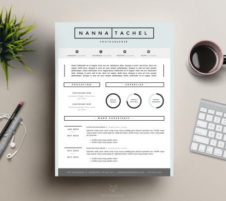 Creative Resume Design and Cover