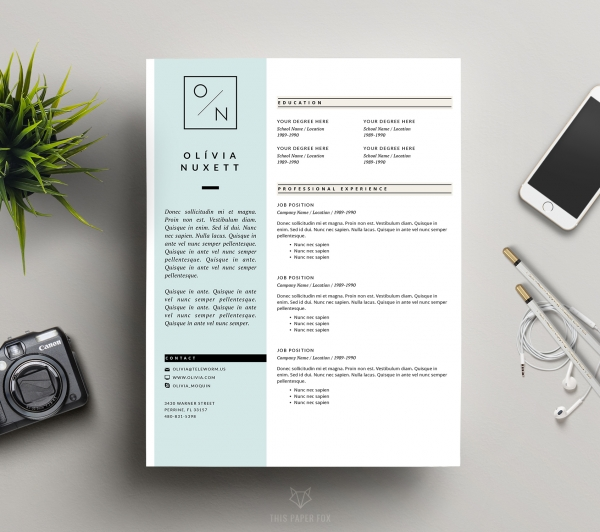 Resume template creative cv design and cover let print download resume template creative cv design and cover let yelopaper Choice Image