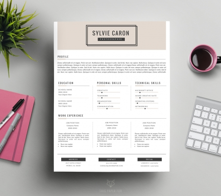 CV Template and Cover Letter for