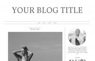 Blogger Premade Template Design: