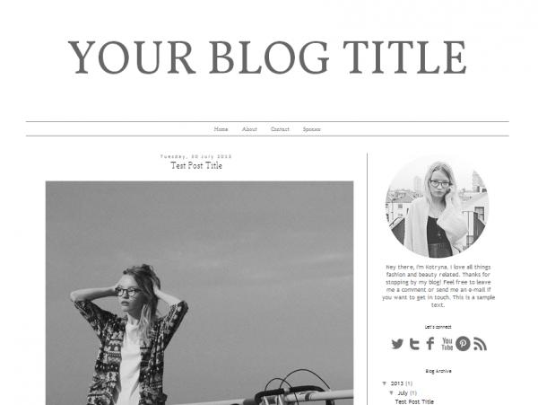 Blogger Premade Template Design: Fashion Note - Web / Blogger ...