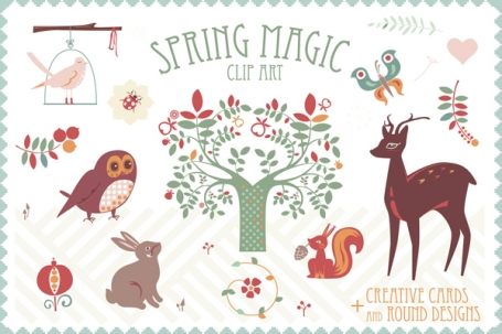 Spring Magic clip art