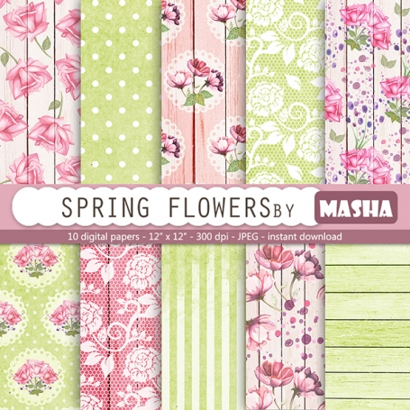 Flowers Digital Paper